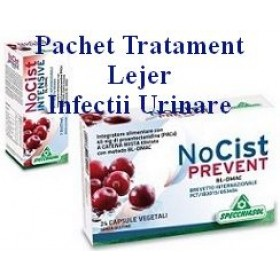 PACHET TRATAMENT LEJER INFECTII URINARE 1 NO CIST intensive + 1 NO CIST prevent
